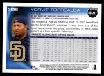 2010 Topps Update #217  Yorvit Torrealba  Back Thumbnail
