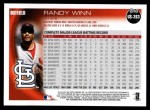 2010 Topps Update #263  Randy Winn  Back Thumbnail