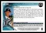 2010 Topps Update #268  Logan Morrison  Back Thumbnail