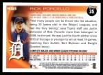 2010 Topps #35  Rick Porcello  Back Thumbnail