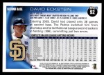 2010 Topps #92  David Eckstein  Back Thumbnail