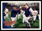 2010 Topps #102   Twins Team Front Thumbnail