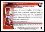 2010 Topps #228  Chris Pettit  Back Thumbnail