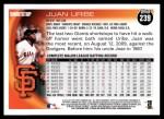 2010 Topps #239  Juan Uribe  Back Thumbnail