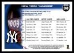 2010 Topps #260   Yankees Team Back Thumbnail