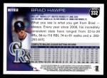 2010 Topps #332  Brad Hawpe  Back Thumbnail