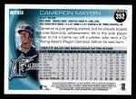 2010 Topps #352  Cameron Maybin  Back Thumbnail