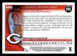 2010 Topps #365  Logan Ondrusek  Back Thumbnail