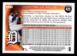 2010 Topps #425  Dontrelle Willis  Back Thumbnail