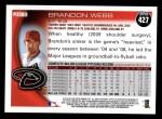 2010 Topps #427  Brandon Webb  Back Thumbnail