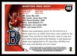 2010 Topps #480   Red Sox Team Back Thumbnail