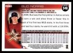 2010 Topps #546  Bud Norris  Back Thumbnail