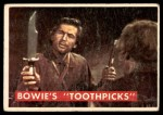 1956 Topps Davy Crockett Green Back #53   Bowie's 'Toothpick'  Front Thumbnail