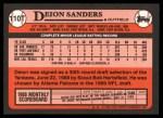 1989 Topps Traded #110 T Deion Sanders  Back Thumbnail