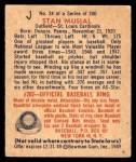 1949 Bowman #24  Stan Musial  Back Thumbnail