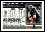 1995 Topps #62  Daryl Johnston  Back Thumbnail