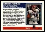 1995 Topps #77  Glenn Parker  Back Thumbnail
