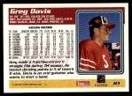 1995 Topps #83  Greg Davis  Back Thumbnail