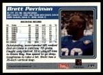 1995 Topps #135  Brett Perriman  Back Thumbnail