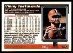 1995 Topps #183  Vinny Testaverde  Back Thumbnail
