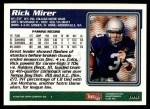 1995 Topps #199  Rick Mirer  Back Thumbnail