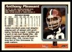 1995 Topps #287  Anthony Pleasant  Back Thumbnail