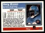 1995 Topps #301  Gary Brown  Back Thumbnail