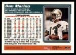 1995 Topps #350  Dan Marino  Back Thumbnail