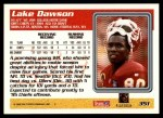 1995 Topps #351  Lake Dawson  Back Thumbnail