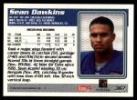1995 Topps #367  Sean Dawkins  Back Thumbnail