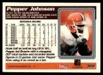 1995 Topps #368  Pepper Johnson  Back Thumbnail