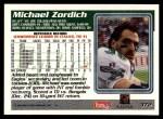 1995 Topps #372  Michael Zordich  Back Thumbnail