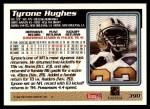 1995 Topps #390  Tyrone Hughes  Back Thumbnail