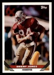 1993 Topps #18  Brent Jones  Front Thumbnail