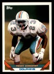 1993 Topps #30  Troy Vincent  Front Thumbnail