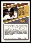 1993 Topps #78  Dermontti Dawson  Back Thumbnail