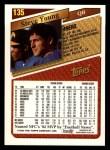 1993 Topps #135  Steve Young  Back Thumbnail