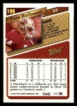 1993 Topps #199  Tom Rathman  Back Thumbnail