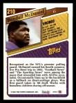 1993 Topps #210  Randall McDaniel  Back Thumbnail