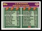 1993 Topps #217  Sterling Sharpe / Anthony Miller  Back Thumbnail