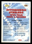 1993 Topps #272   -  Barry Foster Steelers Leaders Back Thumbnail