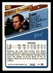 1993 Topps #320  Jason Hanson  Back Thumbnail
