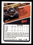 1993 Topps #372  Ron Cox  Back Thumbnail