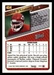 1993 Topps #404  David Whitmore  Back Thumbnail