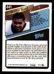 1993 Topps #441  Willie Roaf  Back Thumbnail