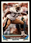 1993 Topps #441  Willie Roaf  Front Thumbnail