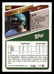 1993 Topps #445  Johnny Johnson  Back Thumbnail