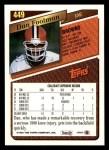 1993 Topps #449  Dan Footman  Back Thumbnail