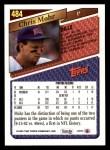 1993 Topps #484  Chris Mohr  Back Thumbnail