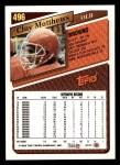 1993 Topps #496  Clay Matthews  Back Thumbnail